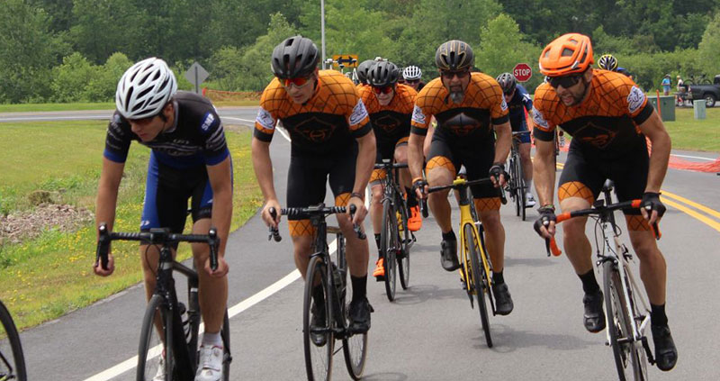 The team racing to the front at the Seneca Circuit Race 2019
