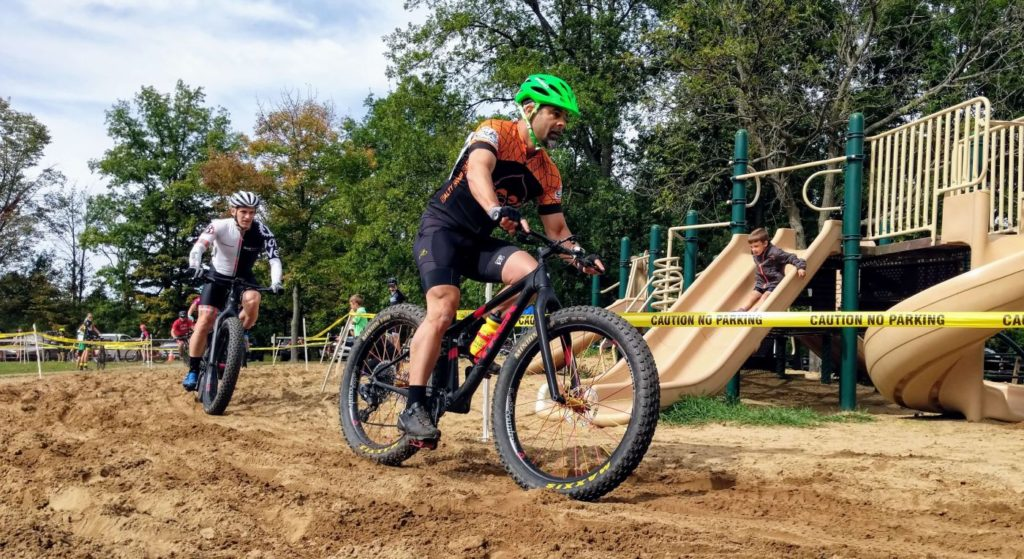 Ben riding the sand pit at Cross Out Child Abuse 2019