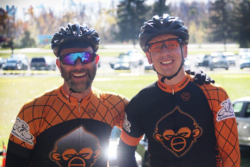 Teammates Scott Stewart and Dan Deemer